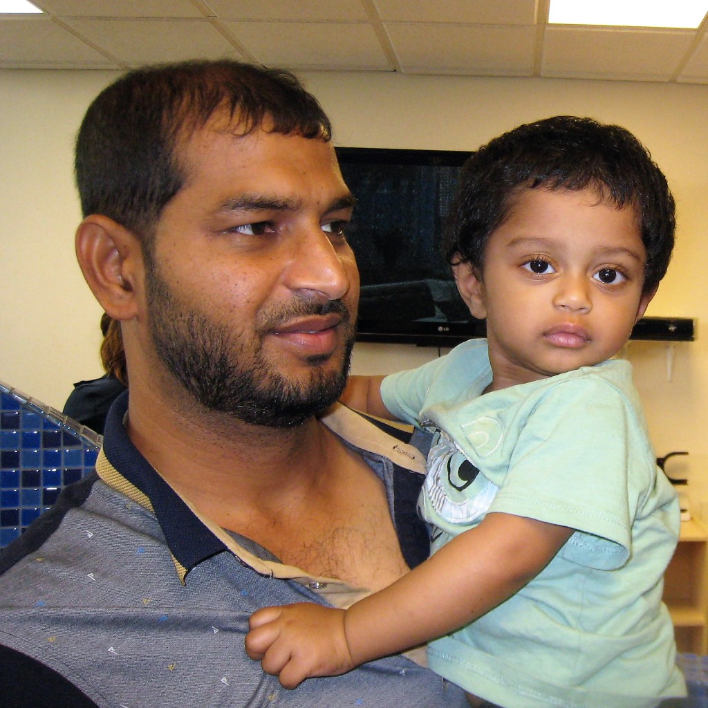 Ahmad with father