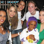 Ka'mya, JJCCF Guest of Honor, with volunteers at Get Downtown 11/12/10.